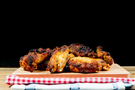 wonderful fried chicken wings on table Stock Photo