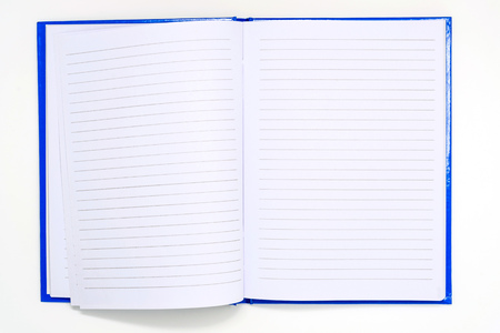 spiral bound notepad isolated on white background