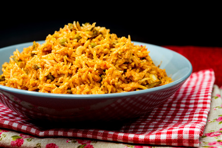 印度炒飯 Tasty Indian food basmati rice on a plate