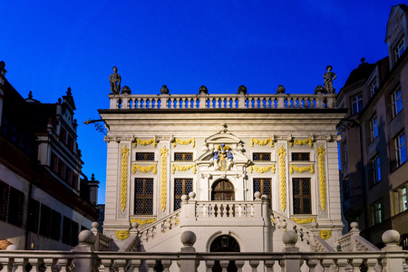 The Old Stock Exchange in Leipzig, Germany Editorial