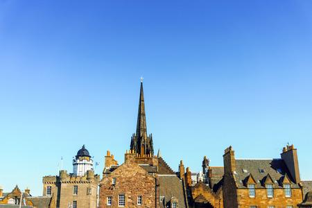 royals: antique church building in Edinburgh, Scotland Stock Photo