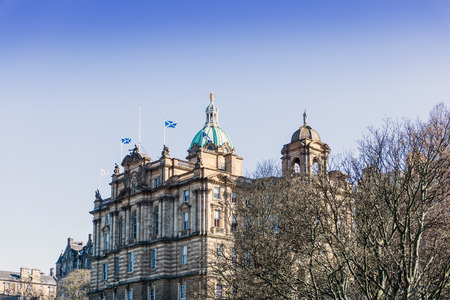 royals: Street view of Historic Old Town Houses in Edinburgh, Scotland