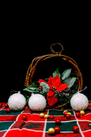 christmas decoration over dark background Stock Photo