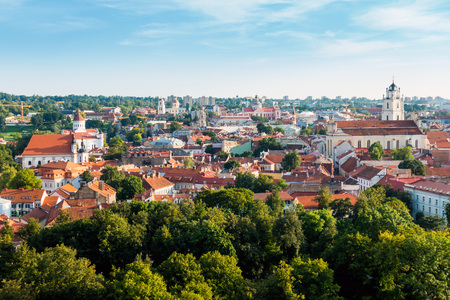 Traditional Cathedral building in Vilnius, Lithuanian Stok Fotoğraf - 88083657