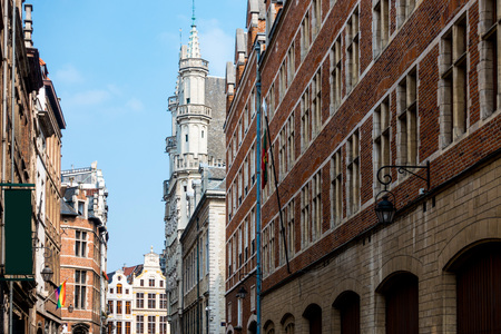 ancient buildings at Brussels, Belgium Stock Photo