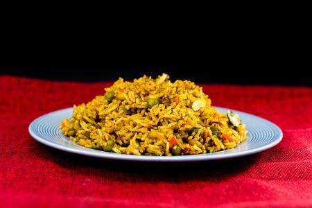 Tasty Indian food basmati rice on a plate