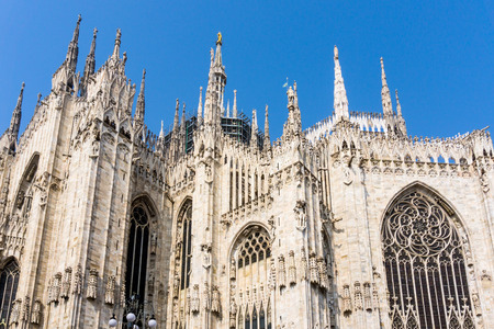 Milan Cathedra, Domm de Milan is the cathedral church, Italy Stock Photo