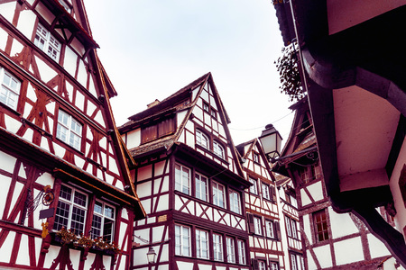 Les maisons traditionnelles à La Petite France, Strasbourg, Alsace, France Banque d'images