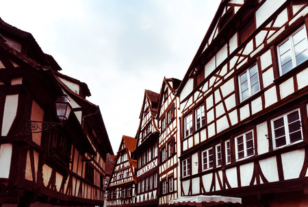 Beautiful view of ancient buildings at Strasbourg, Alsace, France