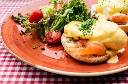 delicious Breakfast Benny Dick Egg Stock Photo