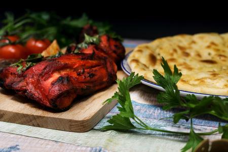 Handmade tandoori Grill Indian food Stock Photo