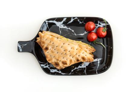 Delicious chicken Sandwich with tomato Stock Photo