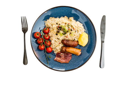Central and Eastern European cuisines choucroute - sauerkraut with riesling