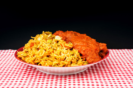 Tasty Indian food basmati rice on a plate