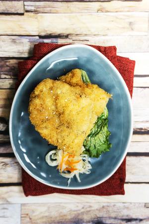 Handmade Japanese fried chicken ready to eat Stock Photo