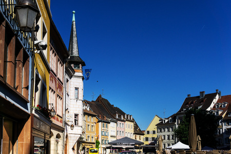 MULHOUSE,FRANCE - Jun 16, 2017: Street view of downtown in Mulhouse city, France