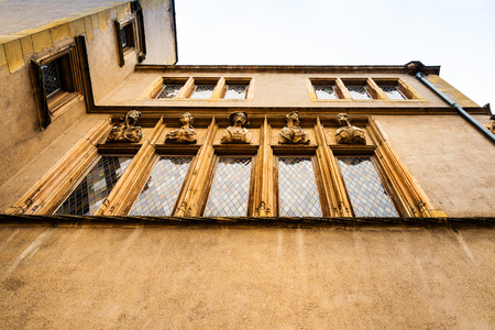 Renaissance style building House of Heads in Metz, France