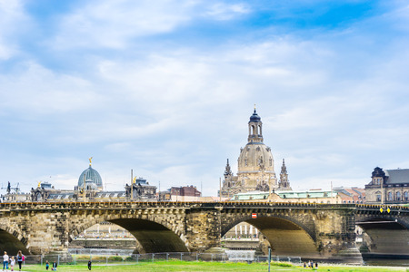 DRESDEN, GERMANY - July 23, 2017: The Dresden Frauenkirche, Germany