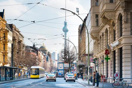 BERLIN, GERMANY- March 11, 2018 : Tv tower or Fersehturm. BERLIN, Germany. Editorial