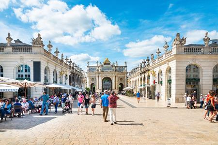 NANCY, FRANCE - June 23, 2018: Arc Here in Old Town Nancy, France Editorial