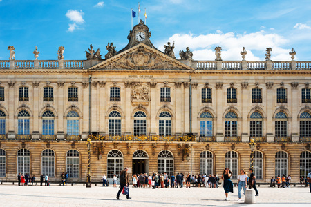 NANCY, FRANCE - June 23, 2018: Place Stanislas is a large pedestrianised square in the French city of Nancy