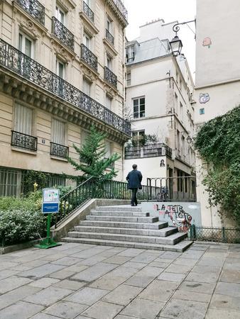 PARIS, FRANCE - November 23, 2018: Street view of Paris city, France.