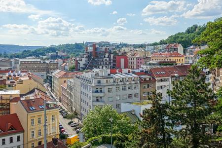 BRNO, CZECH REPUBLIC - July 25, 2017: view of Buildings around Brno, Czech