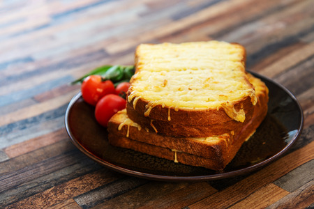 Traditional French sandwich Croque Monsieur Ham Emmental