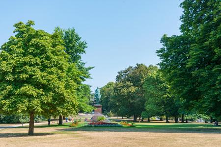 KIEL, GERMANY - JULY 26, 2018 : Street view of Downtown Kiel, Germany