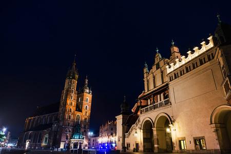 KRAKOW, POLAND - August 27, 2017: The Cloth Hall Krakow,listed as a UNESCO World Heritage Site since 1978, Poland Editorial