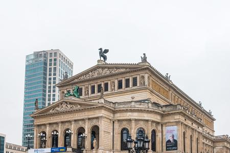 Frankfurt, Germany - January 22, 2019: Alte Oper, original opera house in Frankfurt