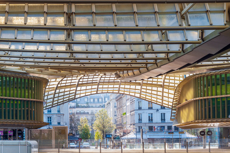 PARIS, FRANCE - MARCH 31, 2019: Forum des Halles was the second most visited shopping mall in the Paris region with 42 million visitors Editorial