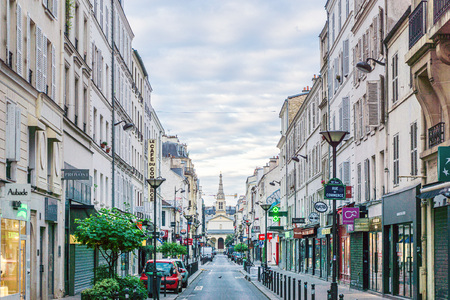 PARIS, FRANCE - July 16, 2017: Street view of Paris city, France.