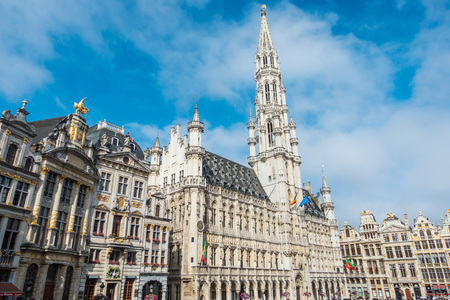 BRUSSELS, BELGIUM - August 27, 2017: Grand Square in Brussels city