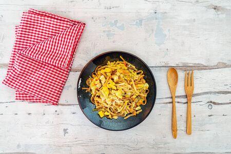 asian food noodles on the table  Reklamní fotografie