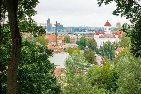 VILNIUS, LITHUANIA - September 2, 2017: view of Buildings around Vilnius, Lithuanian  Reklamní fotografie