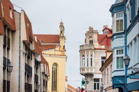 VILNIUS, LITHUANIA - September 2, 2017: Antique building view in Vilnius, Lithuanian