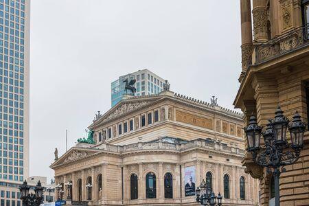 Frankfurt, Germany - January 22, 2019: Antique building view in Frankfurt, Germany.