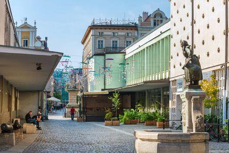 POZNAN, POLAND - September 2, 2019: Street view of Old Town, Poznan, Poland