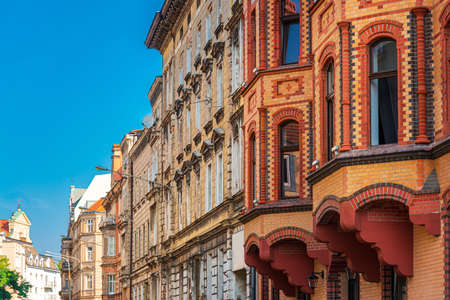 Antique building view in Old Town Poznan, Poland