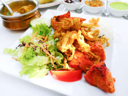 Indian food chicken Tikka Grill Flavor