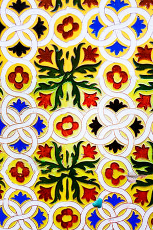 Great for textures Andalusia style wall Azulejos tiles background
