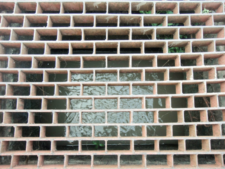 grate: Sewer grate Stock Photo