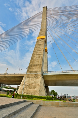 Rama oito ponte, Bangkok, Tail