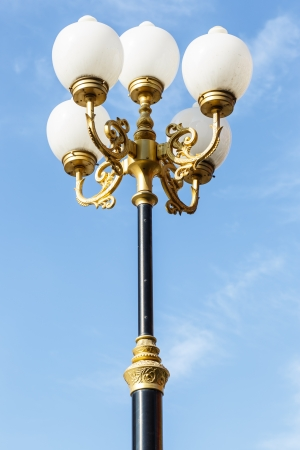 lamp stand in the temple photo