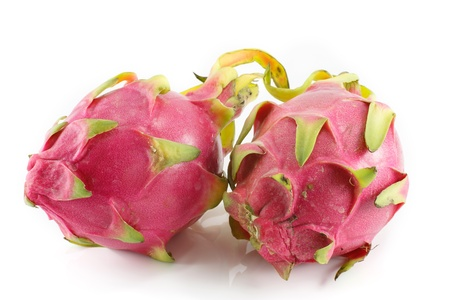 Exotic Thai Fruit  Dragon fruit - Geow Mangon  Isolated on white  photo