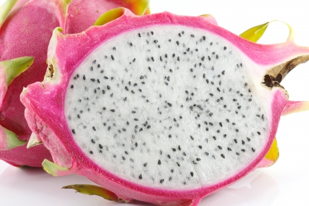 Vibrant Dragon Fruit abstarct background from low perspective