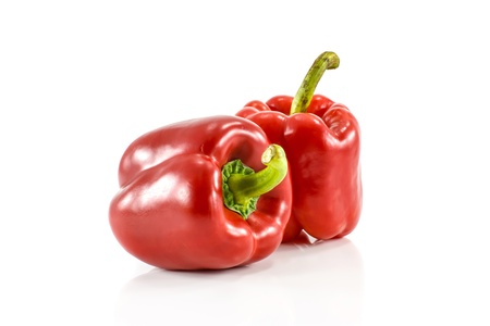sweet pepper isolated on white background Stock Photo