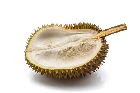 Close up of peeled durian isolated on white background  Stock Photo - 17440122