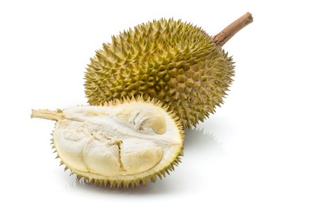 Close up of peeled durian isolated on white background  Stock Photo - 17440194